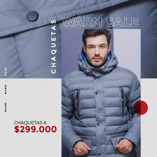 Ver nuestras chaquetas y gabanes $299.000 recomendados
