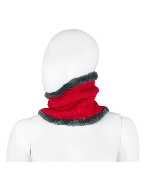 Cuello-tejido-Plush-Rojo
