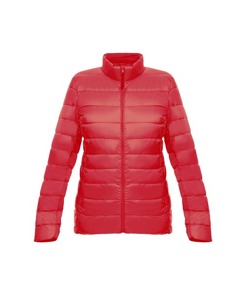 Chaqueta-New-essential-light-down-Mujer-Rojo
