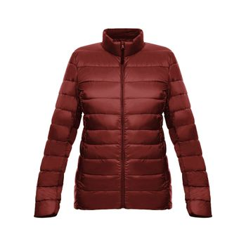 Chaqueta-New-essential-light-down-Mujer-Vino-tinto