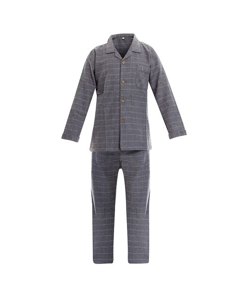PIJAMA-FLANNEL-HOMBRE-GRIS-OSCURO